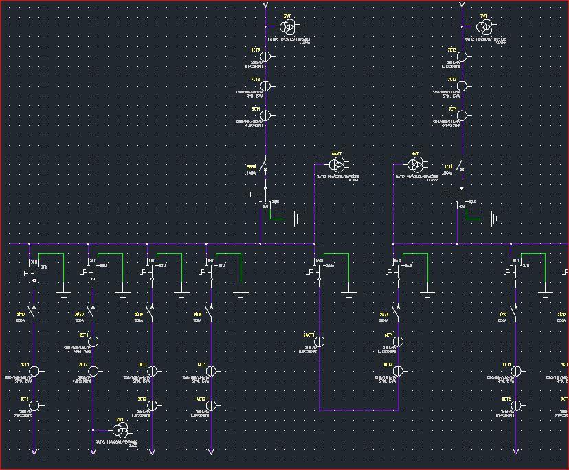 Autocad Electrical Tutoring High Voltage Substation Single Line