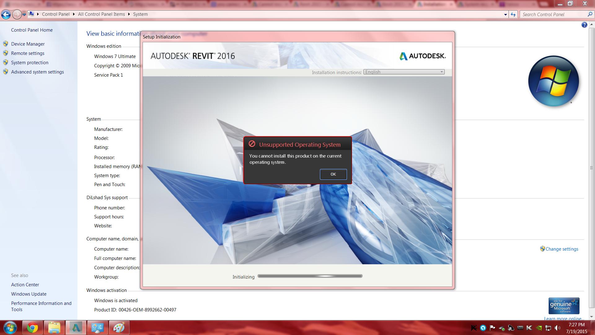 autodesk revit system requirements