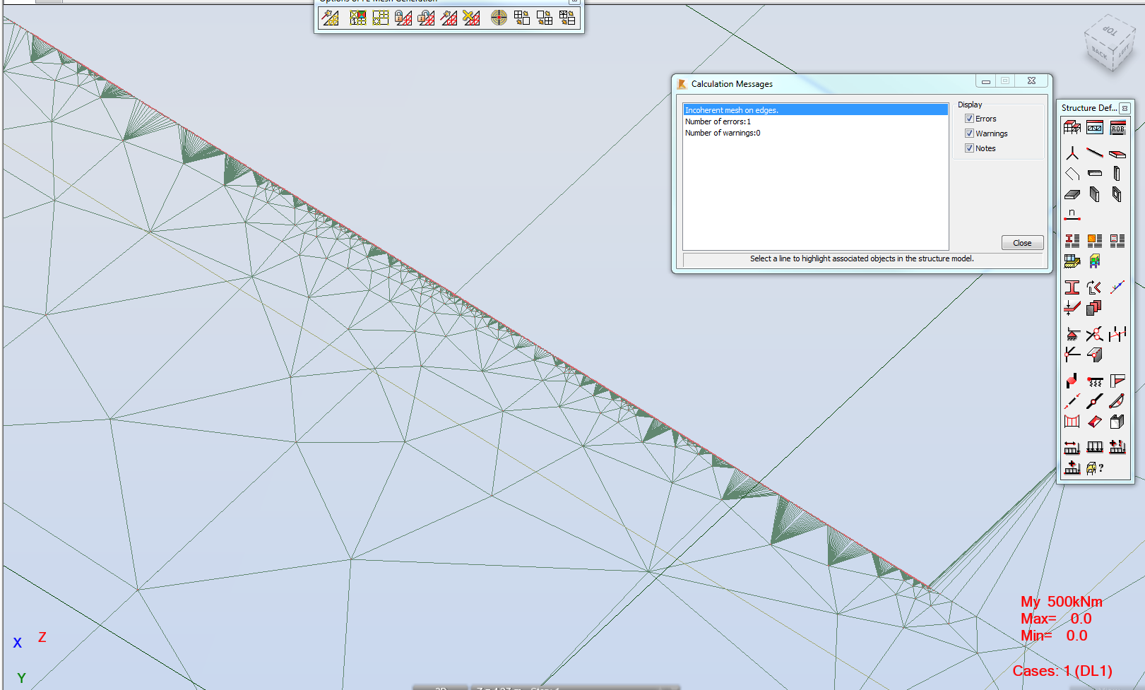 Solved Shear And Moment Diagram Looks Strange Autodesk Force Bending Diagrams For Different Beams Meshing Near Openings