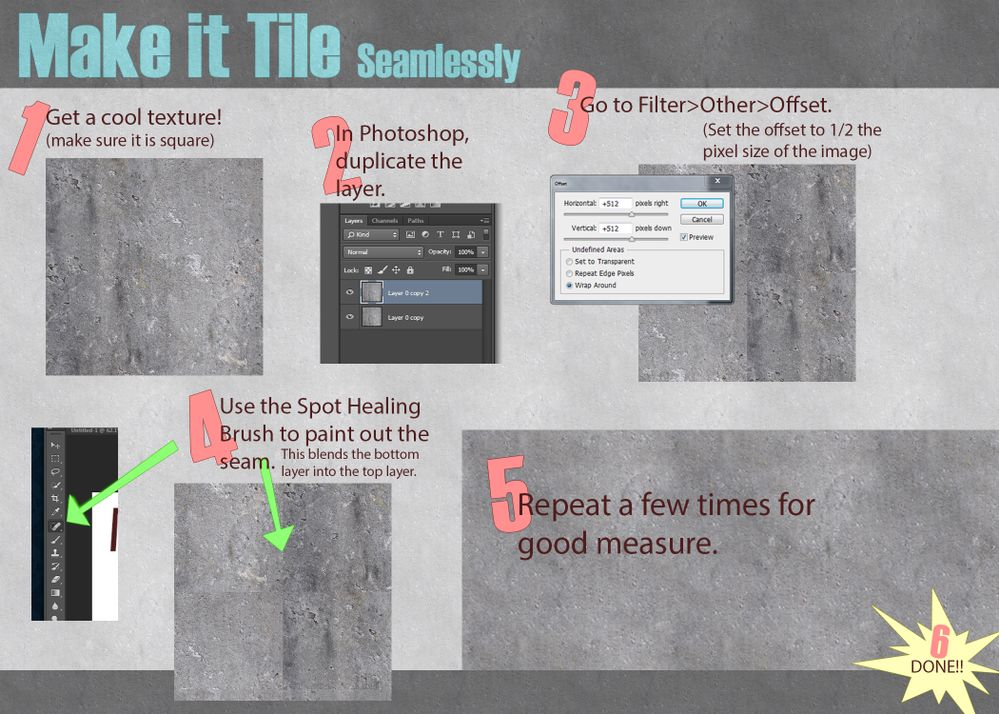 How to make a seamless tiling texture in photoshop autodesk makeittileg ccuart Choice Image