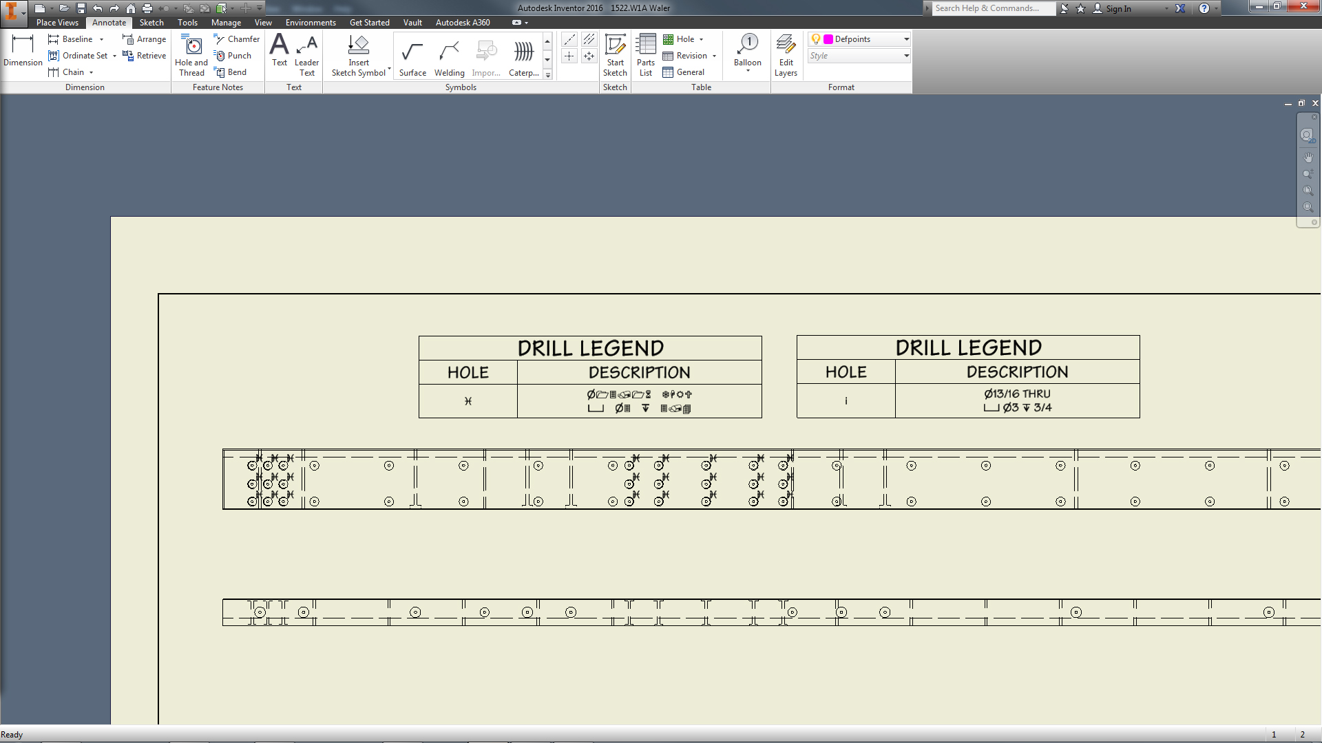 Wingdings Font In First Column Of Hole Table Autodesk Community