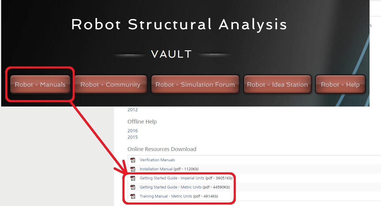 Re: TRAINING MANUAL FOR ROBOT STRUCTURAL ANALYSIS PRO 2015