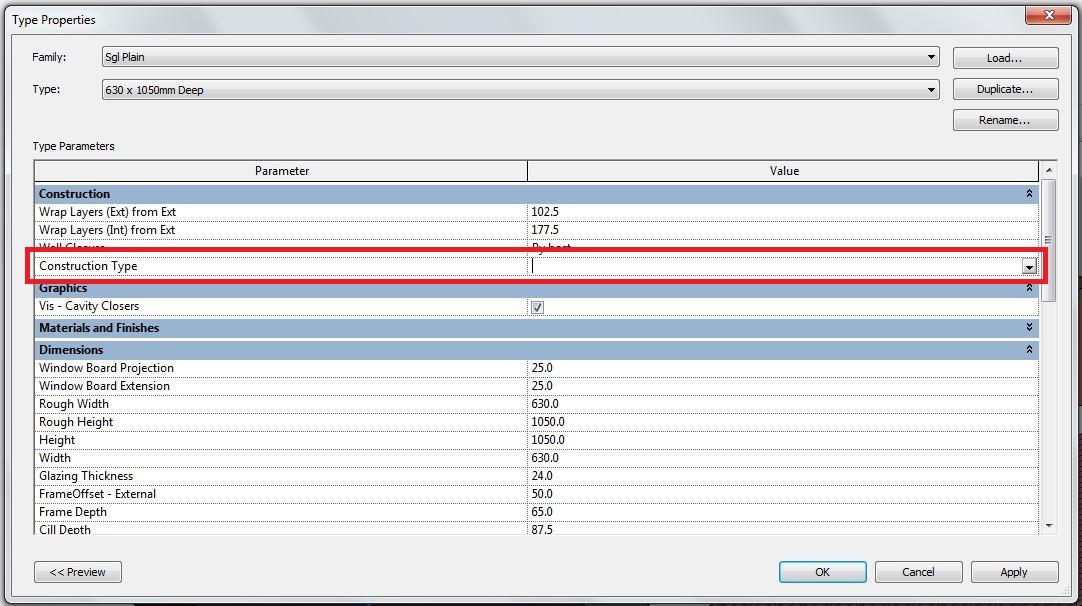 solved revit window s construction type autodesk community revit