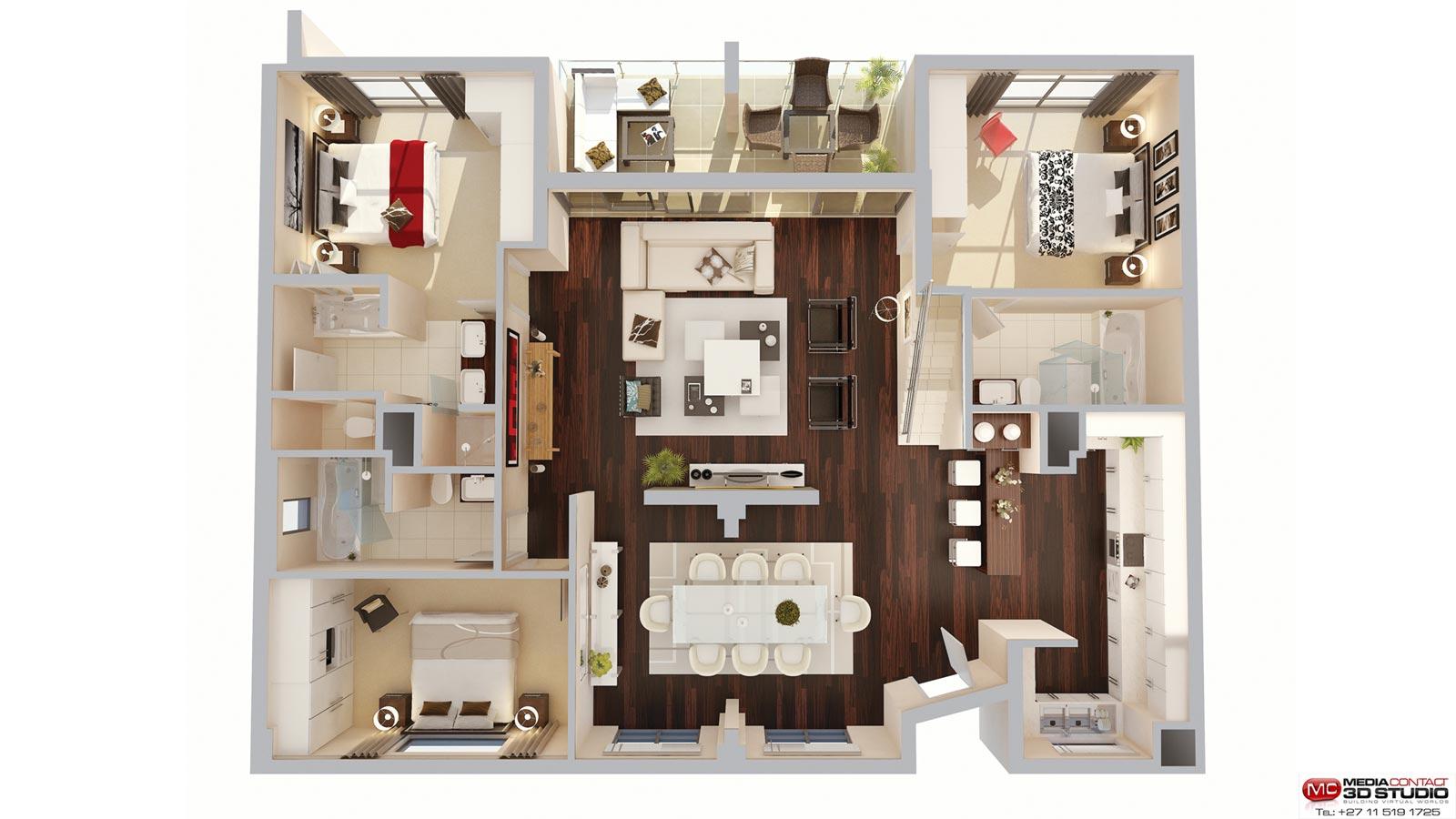 3d Top View Perspective Floor Plan Autodesk Community
