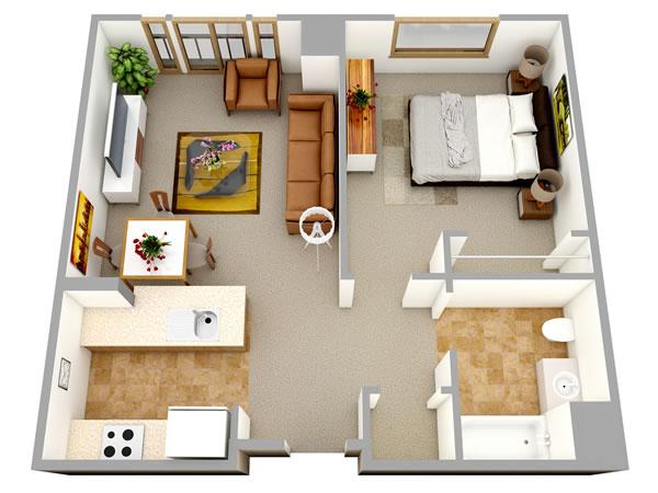 3D Top View Perspective Floor Plan - Autodesk Community- Rendering