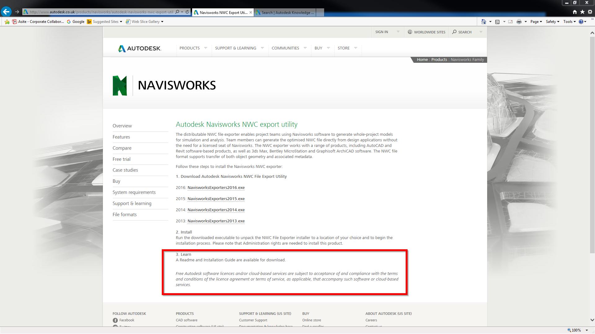 2016 nwc exporter utility read me install guide autodesk rh forums autodesk com Inerface Viewpoint Navisworks Freedom 2012 Navisworks Logo