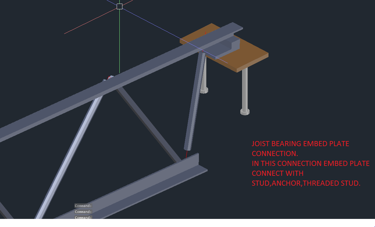joist bearing connection template at wall