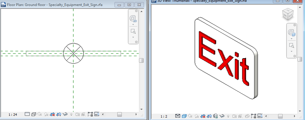 Solved Need Help Loading Exit Sign Autodesk Community Revit Products