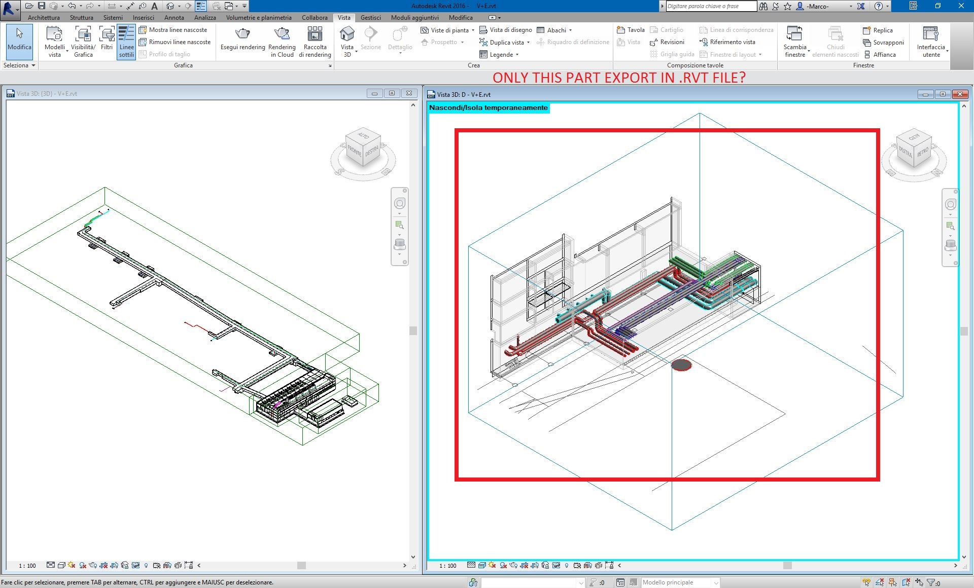 Export Part Of Rvt File Autodesk Community Revit Products Hvac P Id Drawing Bim Manager And Plumbing Designer