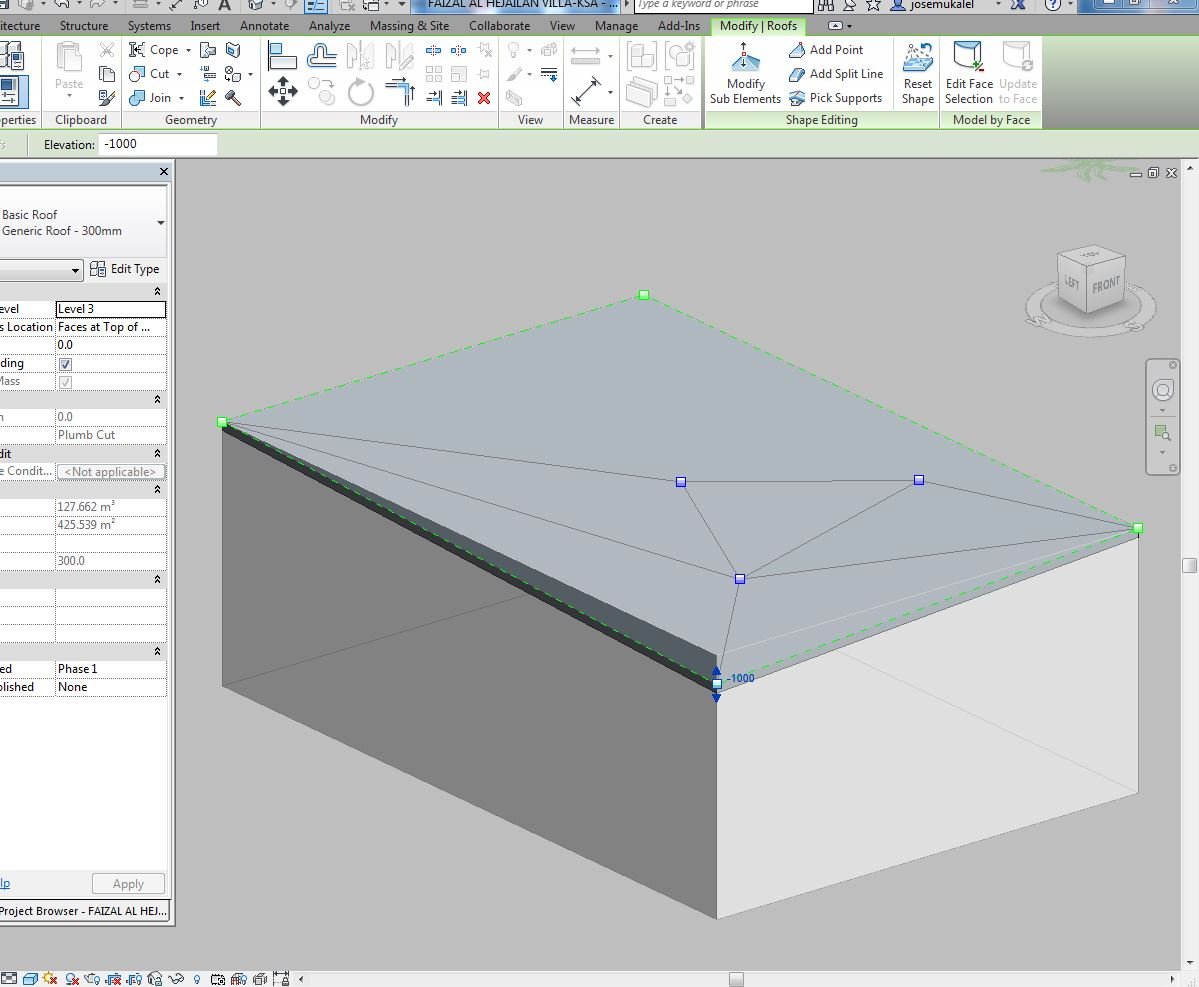 Solved Slope On Roof Created On Mass Face Autodesk Community Revit Products