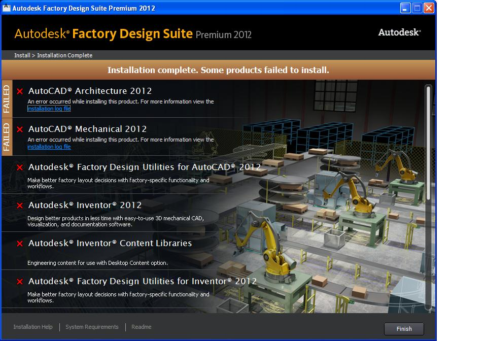 Solved Factory Design Suite Installation Failure Windows Xp Autodesk Community Subscription Installation And Licensing