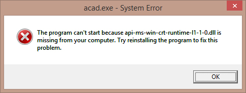 api-ms-win-crt-time-l1-1-0.dll is missing from your computer