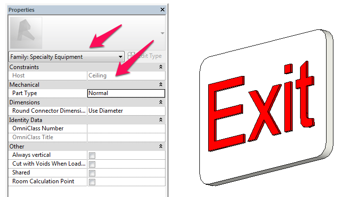 Exit.png  sc 1 st  Autodesk forums & Solved: Need Help Loading Exit Sign - Autodesk Community- Revit Products