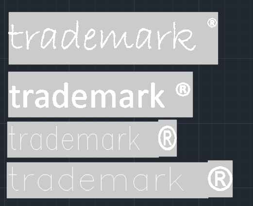 Solved Trademark Symbol Superscript Autodesk Community Autocad