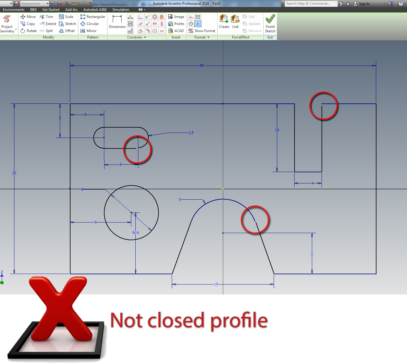 Sketch Closed Profile - Indicator - Autodesk Community