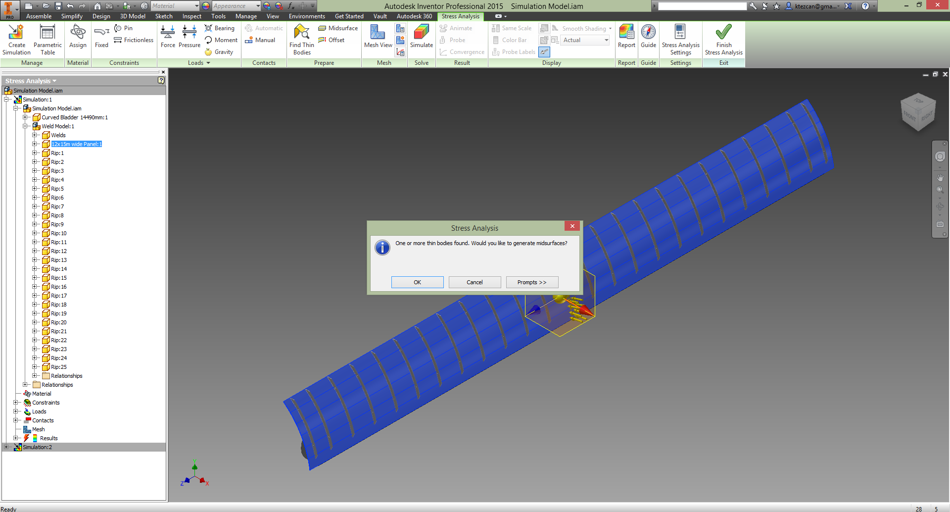inventor 2015 fea thin bodies autodesk community inventor rh forums autodesk com Autodesk Inventor 2014 Autodesk Inventor Fea