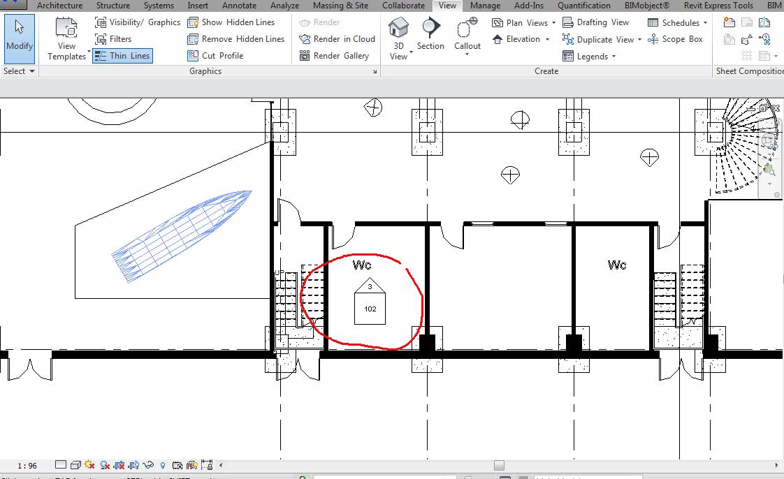 Elevation Marker Plan : Elevation looks like section
