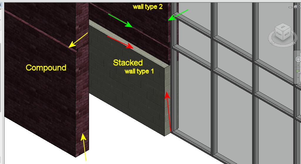 In The Case Of Latter You Have To Set Wrpping Original Wall Types Being Stacked