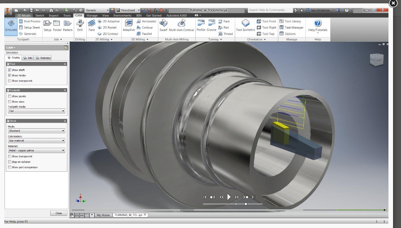 autodesk inventor turning simulation. Black Bedroom Furniture Sets. Home Design Ideas