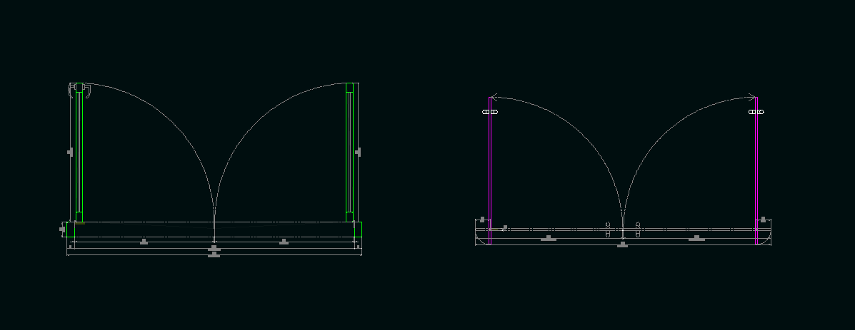 Double Hinge and Pivot Door Dynamic Block.png. \  & Solved: Door Dynamic Block Library - Autodesk Community- AutoCAD