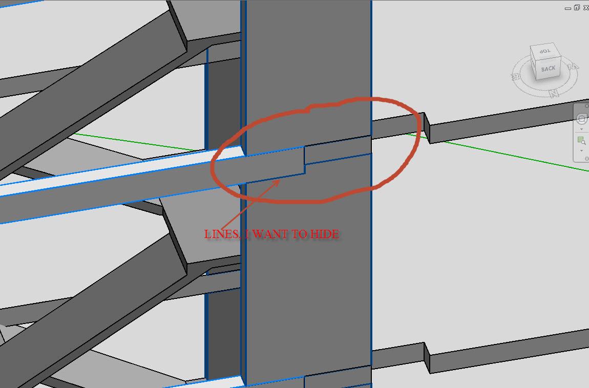 Drawing Lines Between Html Elements : Hide lines between two element in plan