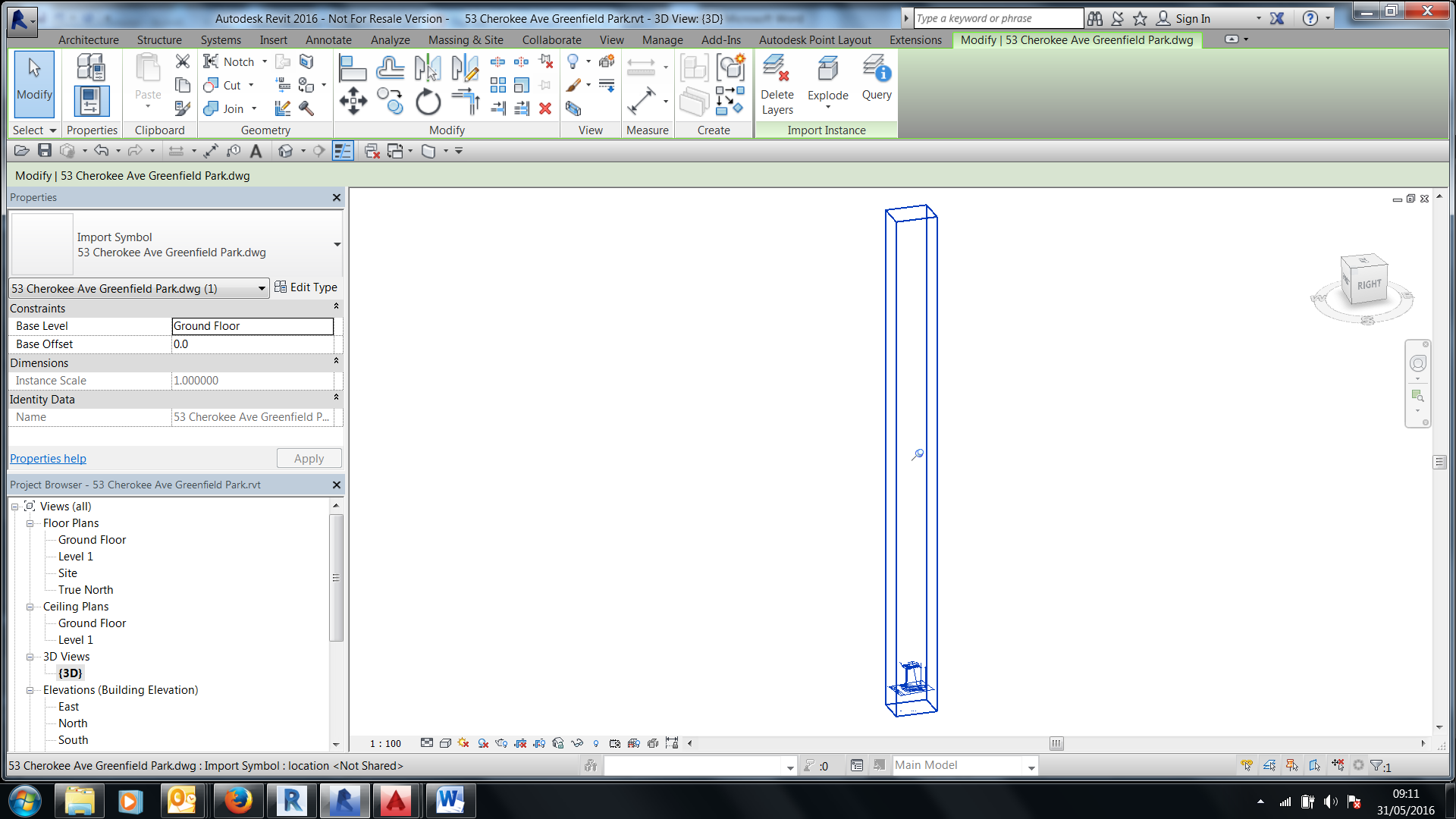 Drawing Property Lines In Revit : Snap to imported cad geometry