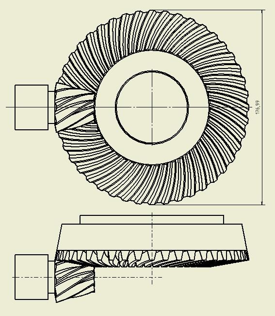 design spiral bevel gears klingelnberg autodesk community rh forums autodesk com Herringbone Gear Double Helical Gear