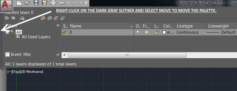 how to show layers in autocad 2016
