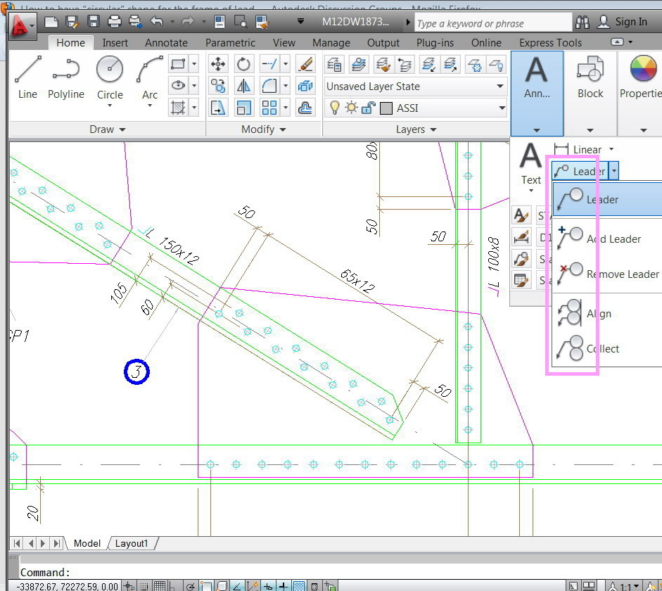 Solved how to have circular shape for the frame of leader text pox 731 ramallah west bank palestine software autocad 2014 autocad c3d autocad m3d biocorpaavc Choice Image