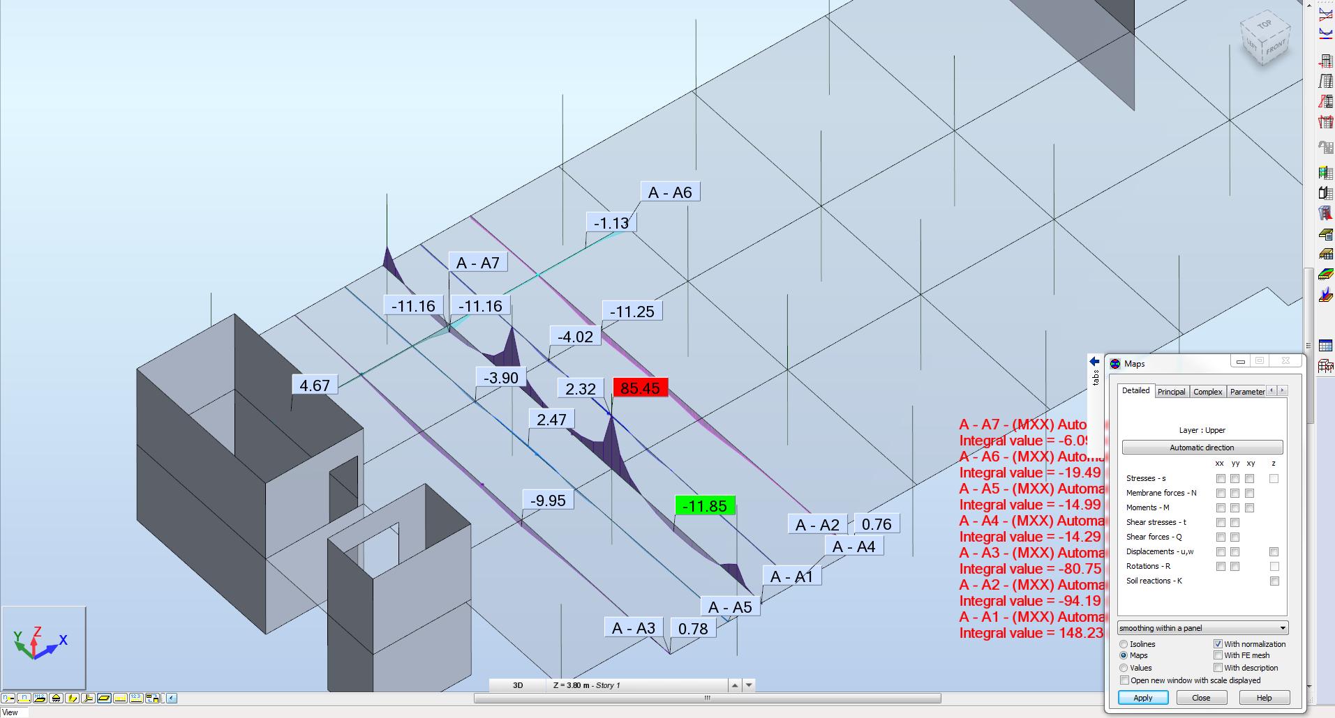 Building Flat Slab Moments Autodesk Community Robot Structural Bending Moment Diagrams Above Rsa Diagram