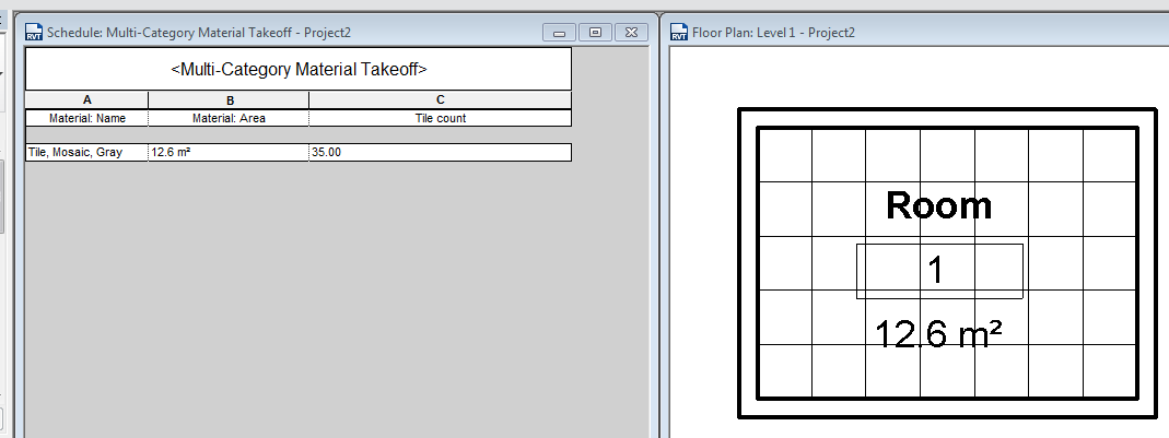 CALCULATING AMOUNT OF TILE IN AREA - Autodesk Community- Revit Products