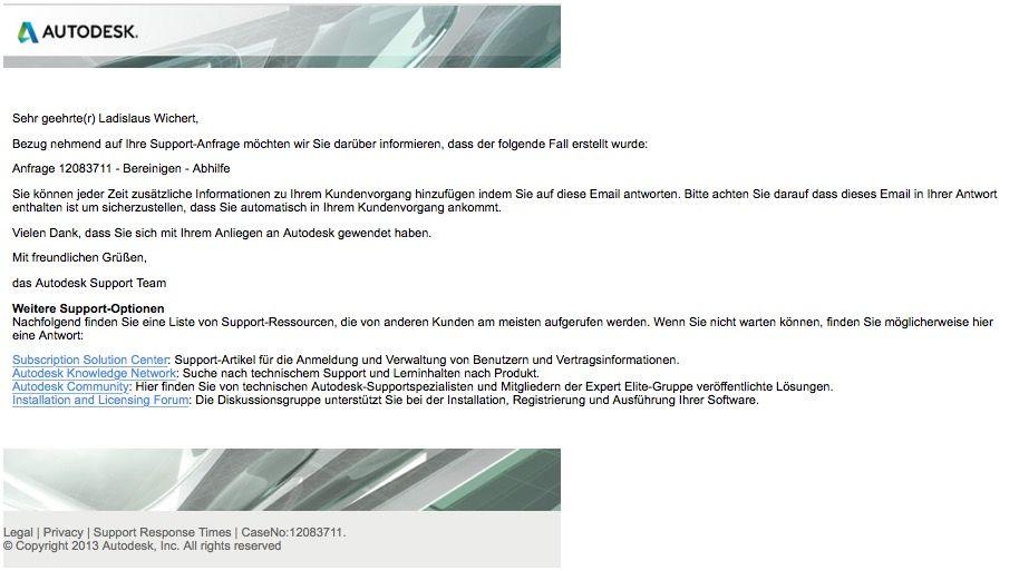 Gelöst: Bereinigen - Abhilfe - Autodesk Community- International Forums