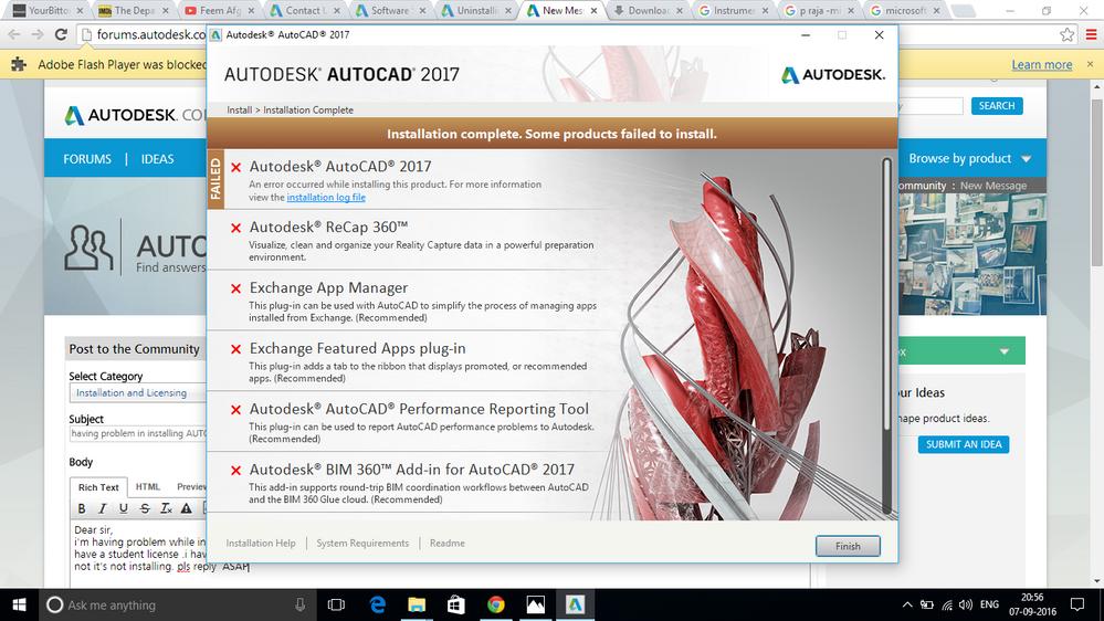 Having Problem In Installing Autocad 2017