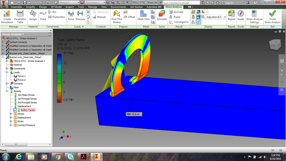 inventor stress analysis low minimum safety factor autodesk rh forums autodesk com Autodesk Inventor Projects Autodesk Inventor Car