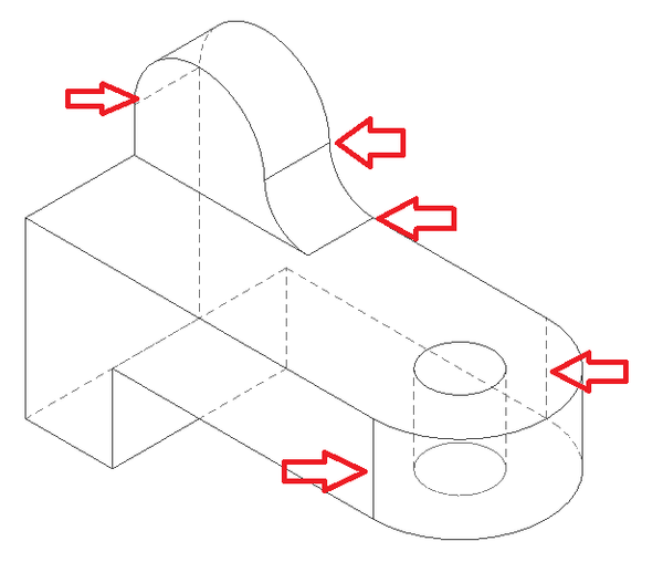 Solved: Line created where flat surface meets and curved