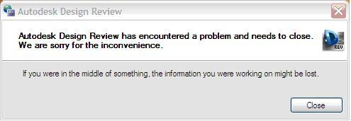 Autodesk Design Review 2013 Error message.JPG