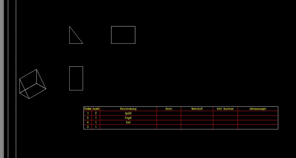 Gelöst: Teileliste für einen Zeichnungsrahmen - Rahmen wir nicht ...