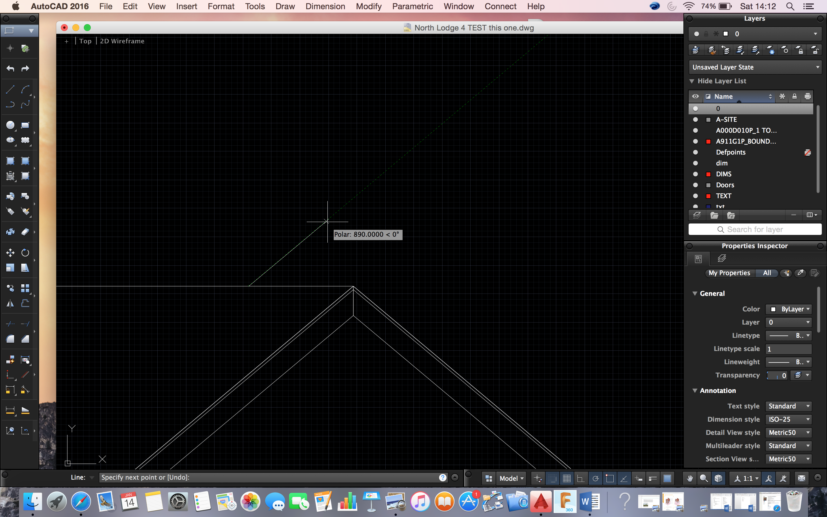 Solved: how to draw a line by specifying angle - Autodesk Community- AutoCAD  for Mac