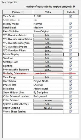 Remove \'Underlay Orientation\' from View Templates - Autodesk Community