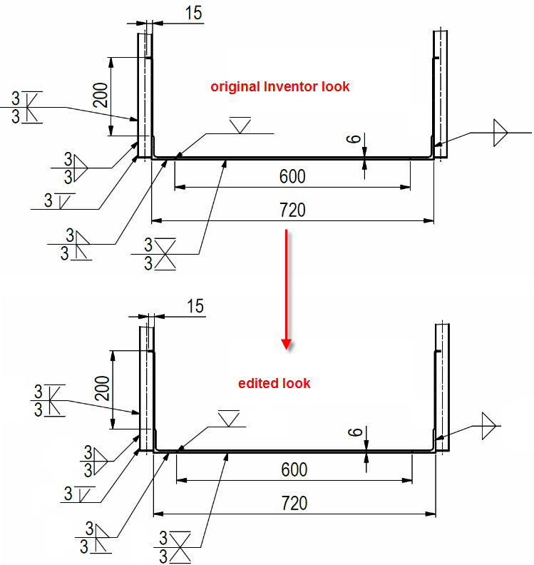 Weld Symbol Add Setting To Control Symbol Line Length Autodesk