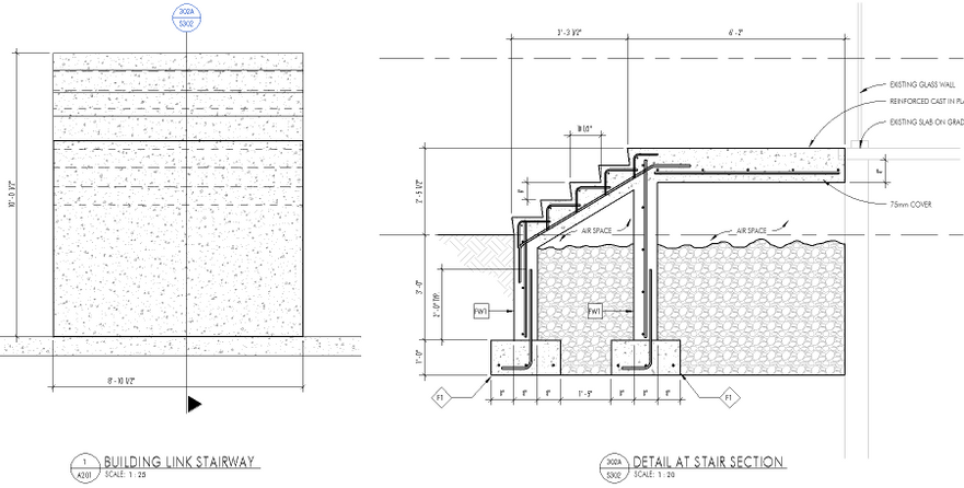 The Above Stair Way Is Attached (bearing) On The Existing Foundation Wall  Below. Some Of The Questions I Have Are: