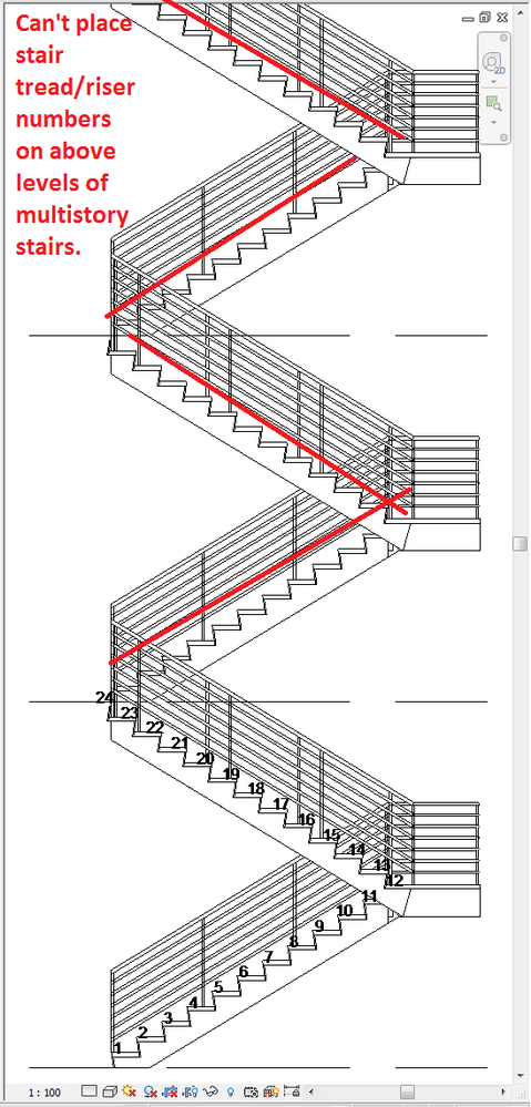 Ordinaire Fix Stair Tread/Riser Numbers On Multistory And Sketch Base Stairs.