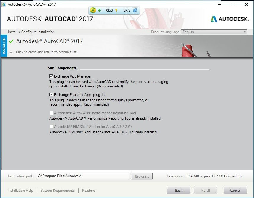 How to reinstall autocad 2017