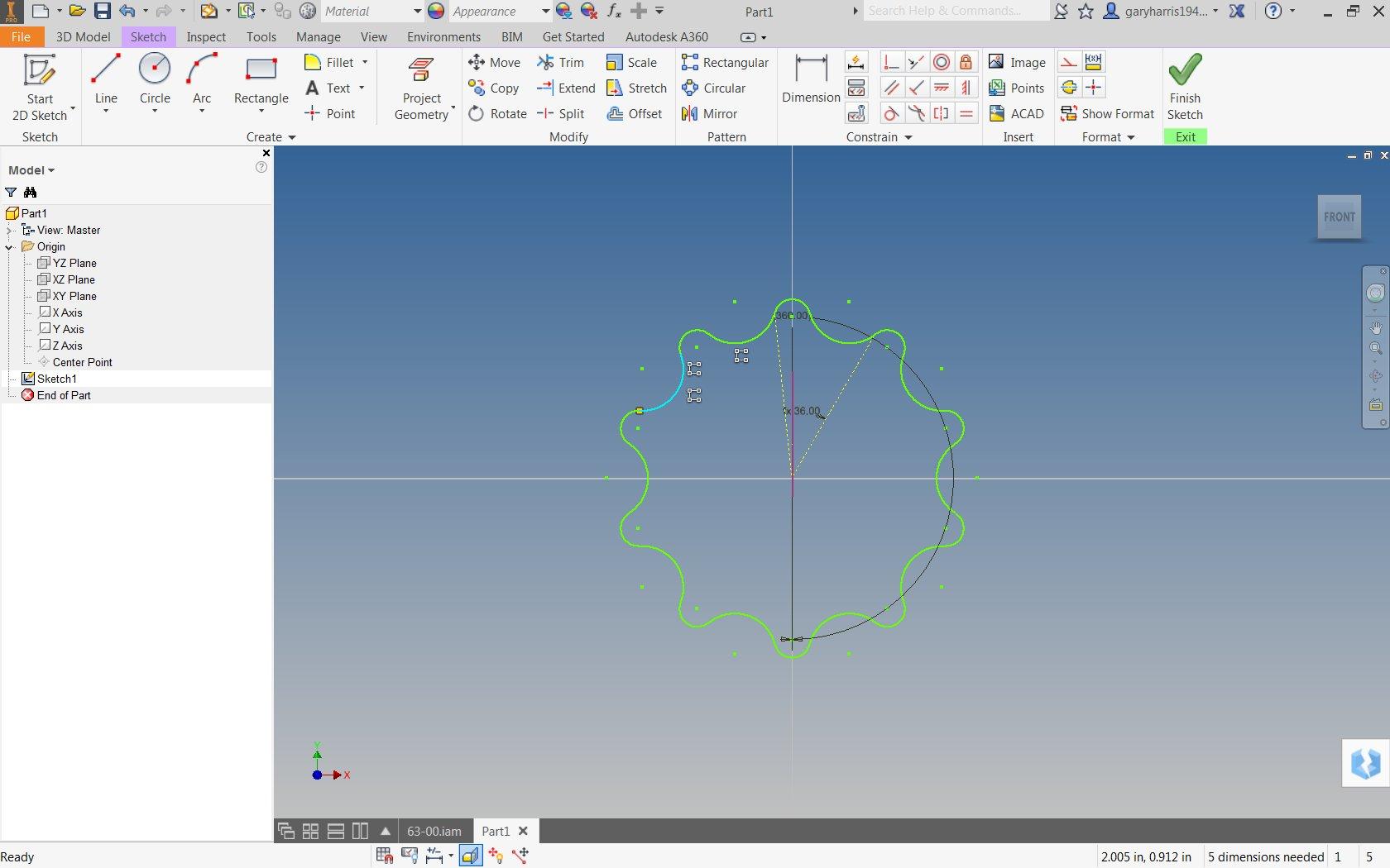Circular Array in sketch - Autodesk Community