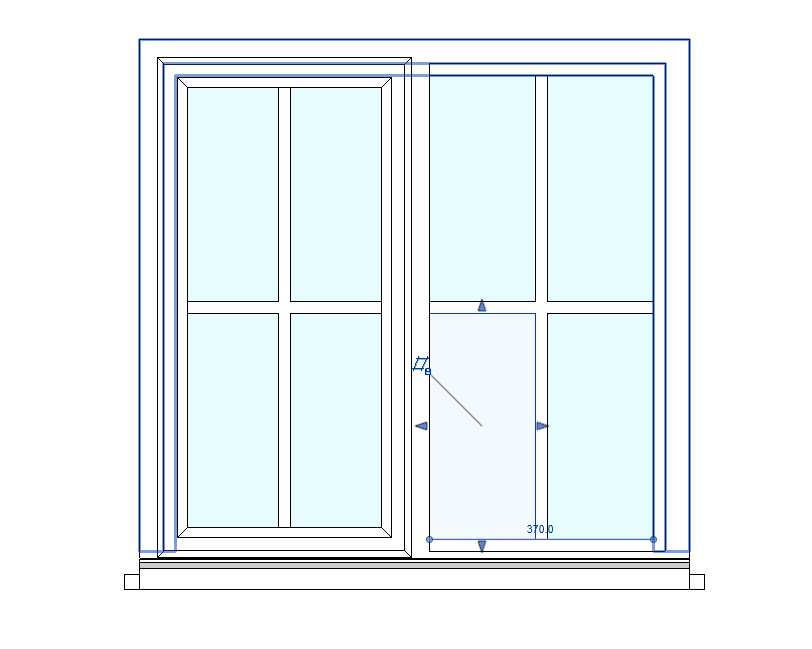 I tried setting round it by making each pane of glass fit inside the each one of the 4 frame but when i went back to project the windows panes were ...  sc 1 st  Autodesk forums & Mullions not showing up in elevation view - Autodesk Community ...