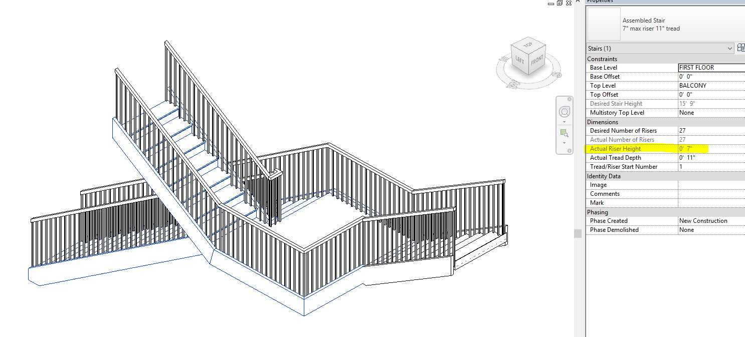 Solved Stair With Three Runs And Two End Landings At Different Diagram Of A Network Architecture In Multistory Building Heights Autodesk Community Revit Products