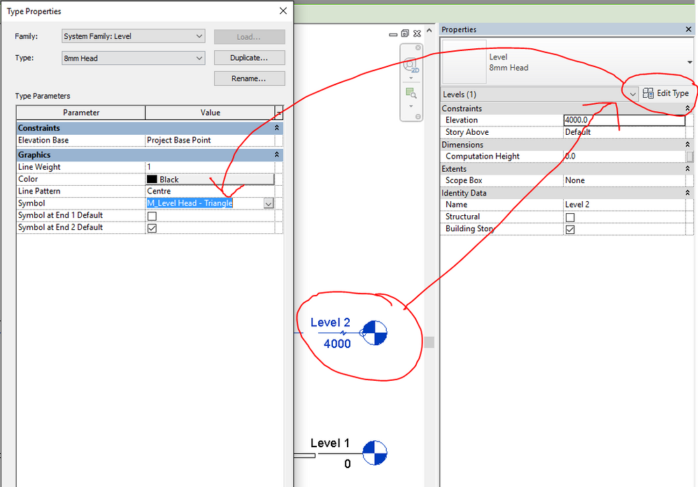 Solved Cannot Adding Triangle Head Level To Proprieties Autodesk