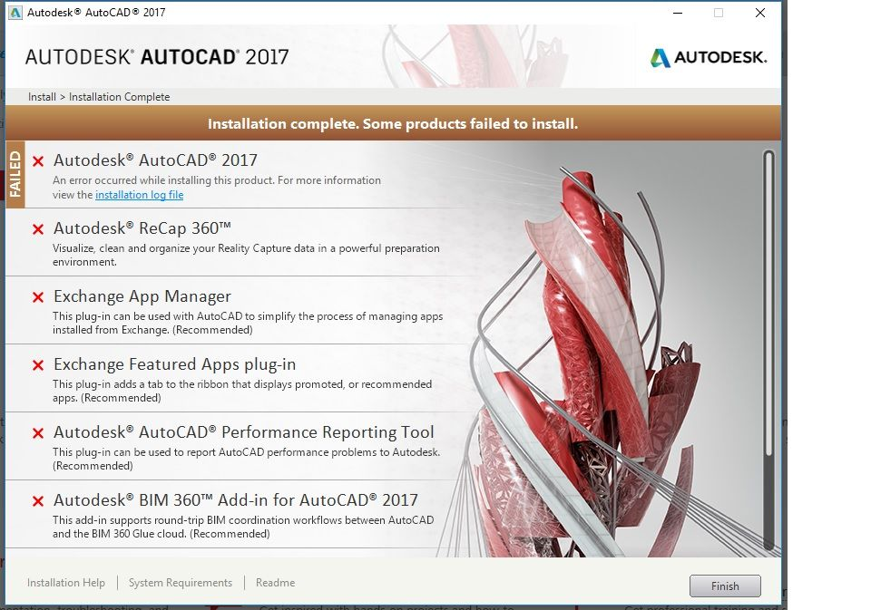 Solved  Problem In Installing Autocad 2017 And Other