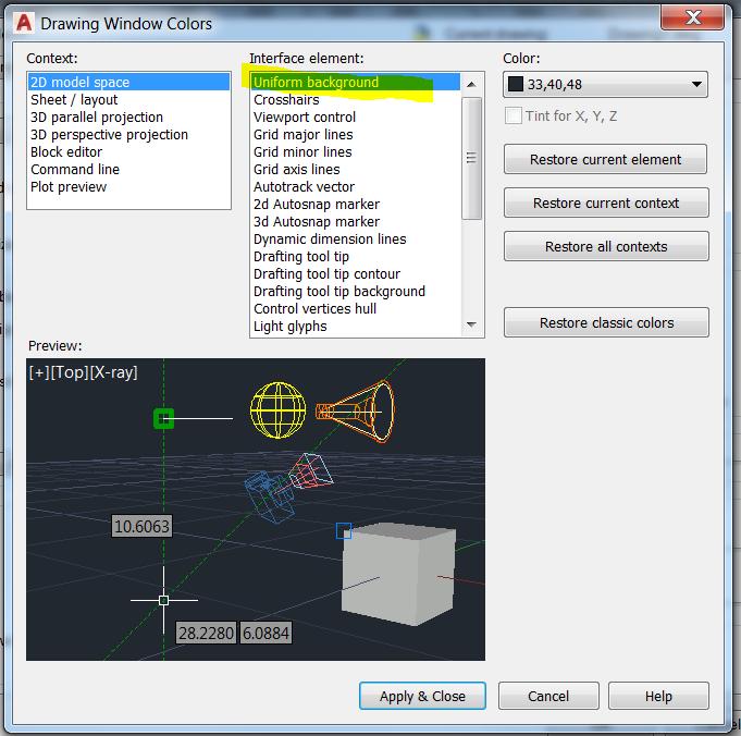 Solved: Change AutoCAD Background To Black - Autodesk Community - AutoCAD