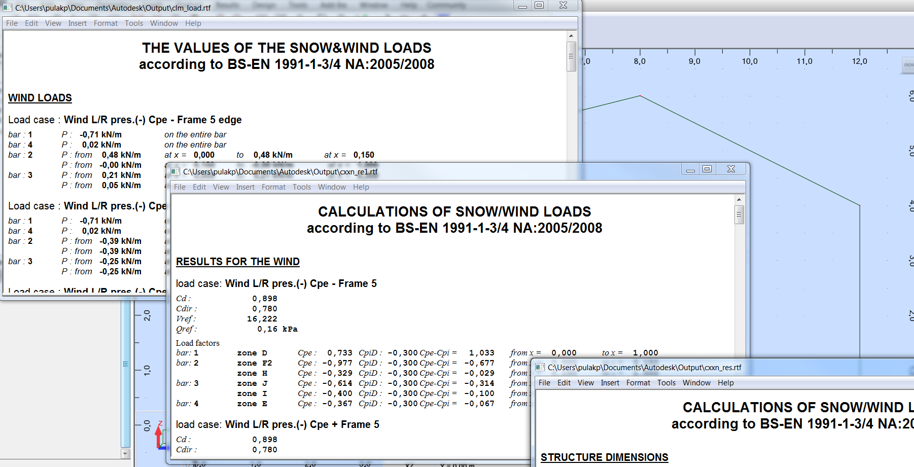 Best way to do a Eurocode Wind Load analysis on a 3D Portal Frame ...